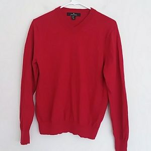 DANIEL BISHOP 100% extra fine wool red sweater